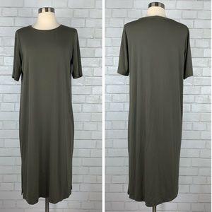 Eileen Fisher Midi T-Shirt Dress Medium S3058
